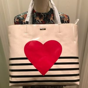 Kate Spade Yours Truly Heart Stripe Hallie Novelty